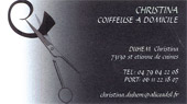 carte de visite Christina Coiffure Saint Etienne de Cuines