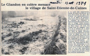 article journal crue du Glandon 1981