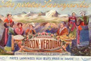 publicité pates Bozon-Verduraz