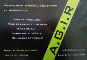 carte de visite AGIR