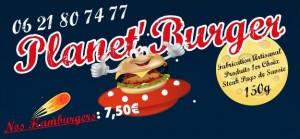 carte de visite Planet Burger