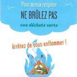 Le brûlage à l'air libre déchets verts est interdit