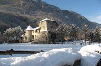 La maison Gruyère sous la neige