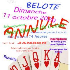 Concours de belote annulé