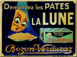 plaque publicitaire Pates La Lune